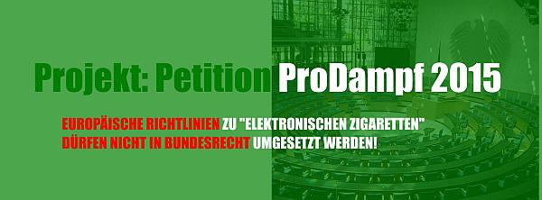 Petition ProDampf 2015
