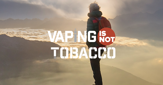 Vaping is NO Tobacco